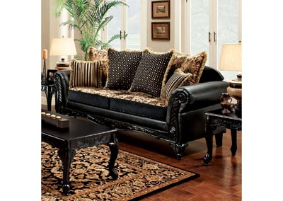 Theodora Black Sofa