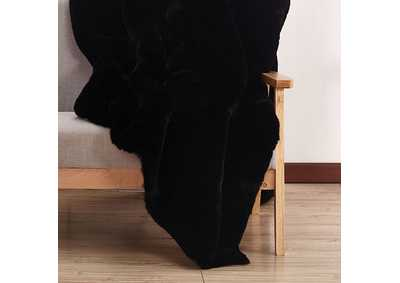 Image for Caparica Black Throw Blanket