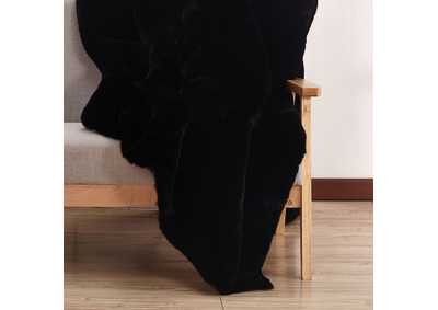 Caparica Black Throw Blanket