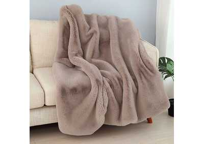 Caparica Brown Throw Blanket