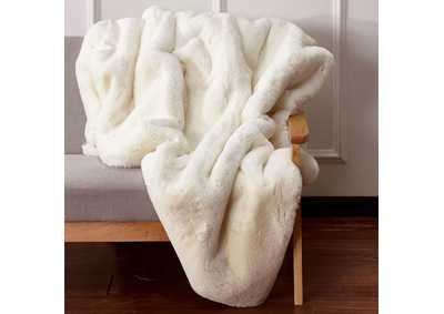 Caparica White Throw Blanket
