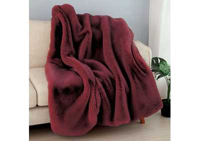 Caparica Red Throw Blanket