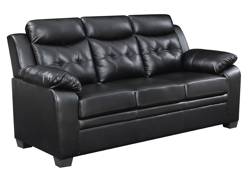 Peachy Mattress Master Tufted Black Leather Look Sofa Pabps2019 Chair Design Images Pabps2019Com