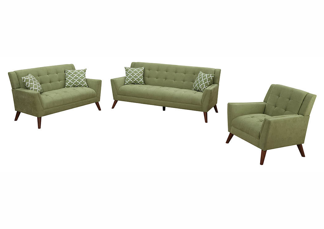 Amazing Mattress Master Sage Green Chenille Sofa Loveseat W Pillows Pabps2019 Chair Design Images Pabps2019Com