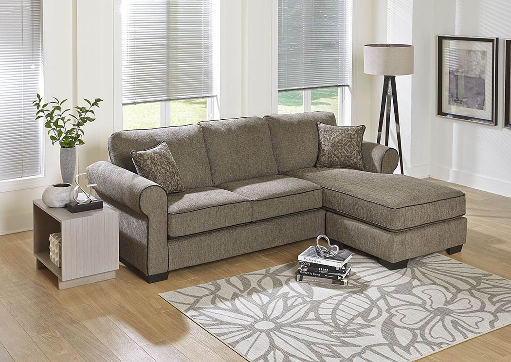Swell 428834 Mocha Chenille Sofa Chaise W Accent Pillows Dailytribune Chair Design For Home Dailytribuneorg