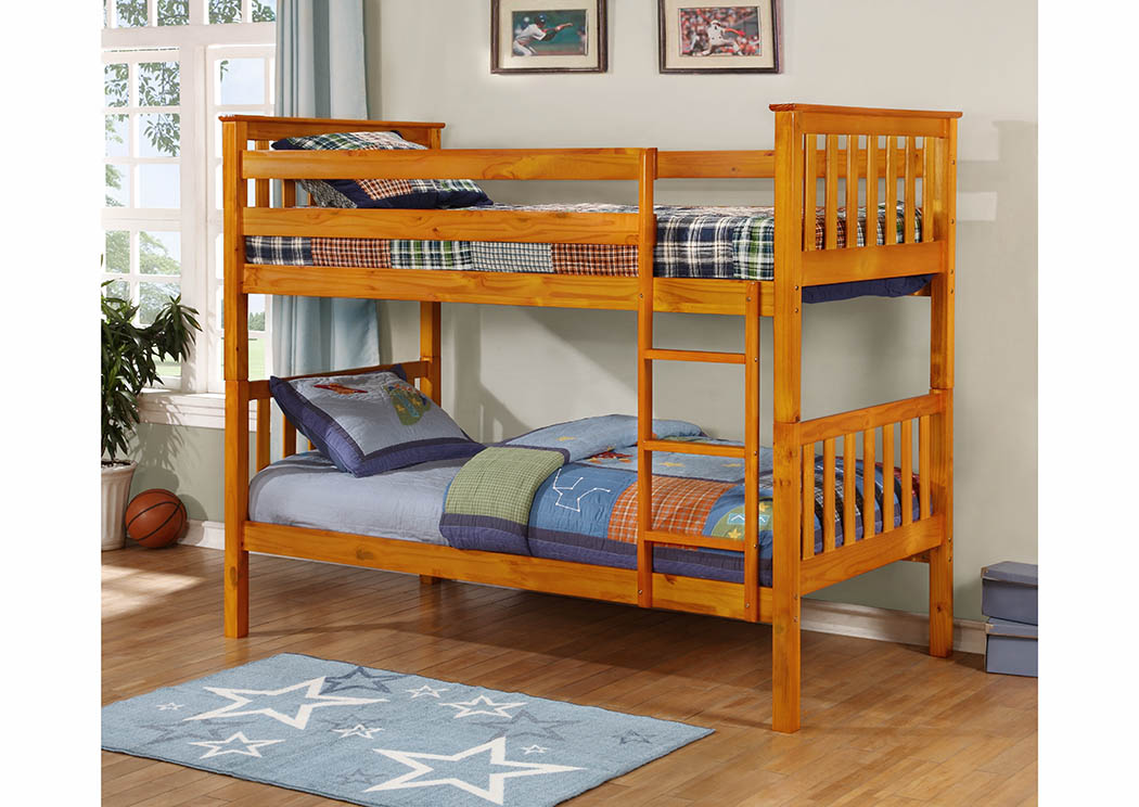 Sclamo S Furniture Worcester Ma Honey Twin Twin Bunk Bed