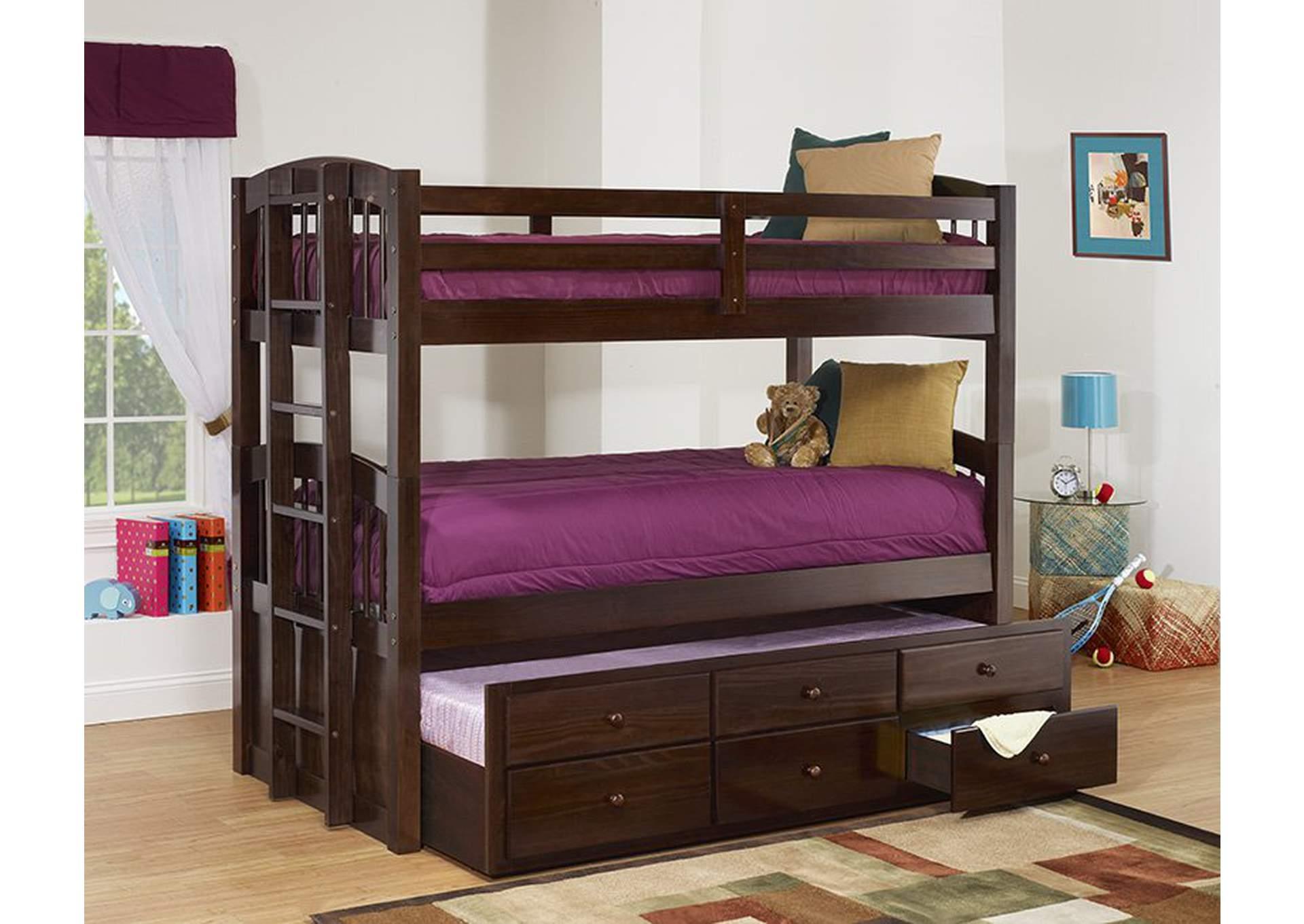 Java Triple Twin Bunk Bed,Furniture World Distributors