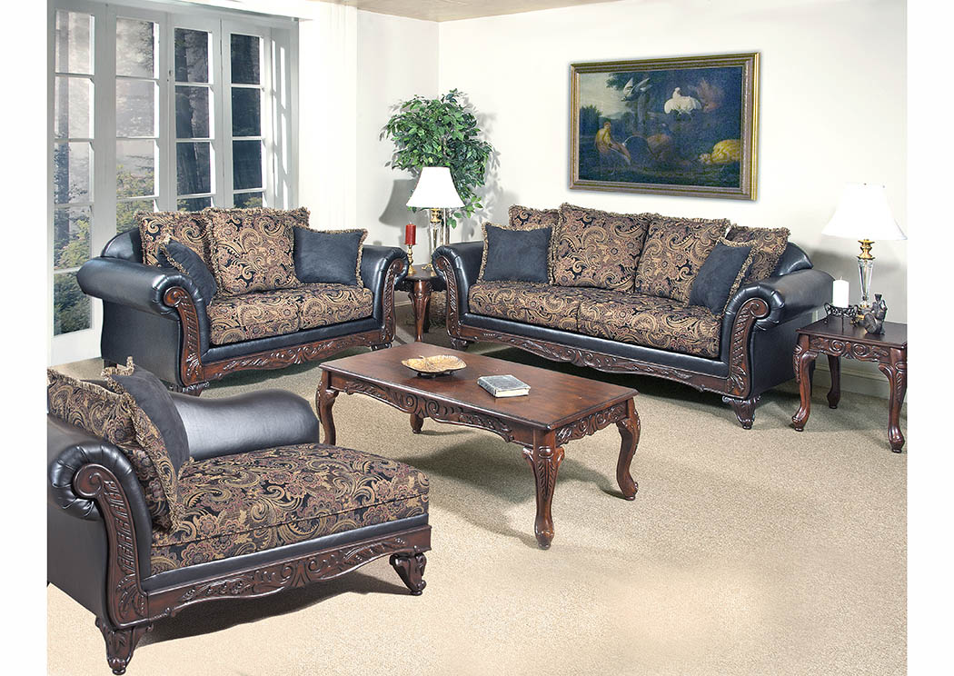 Awe Inspiring 898252 Black Paisley Sofa Loveseat W Scatter Back Cushions Gmtry Best Dining Table And Chair Ideas Images Gmtryco