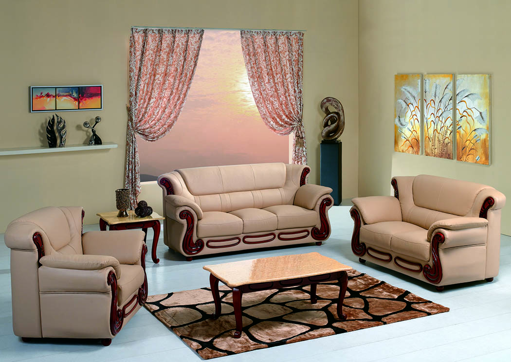 Just Furniture Honey Bonded Leather Sofa & Loveseat