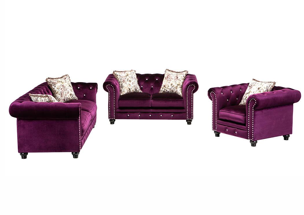 Prime 898342 Purple Velvet Sofa Loveseat W Pillows Bralicious Painted Fabric Chair Ideas Braliciousco