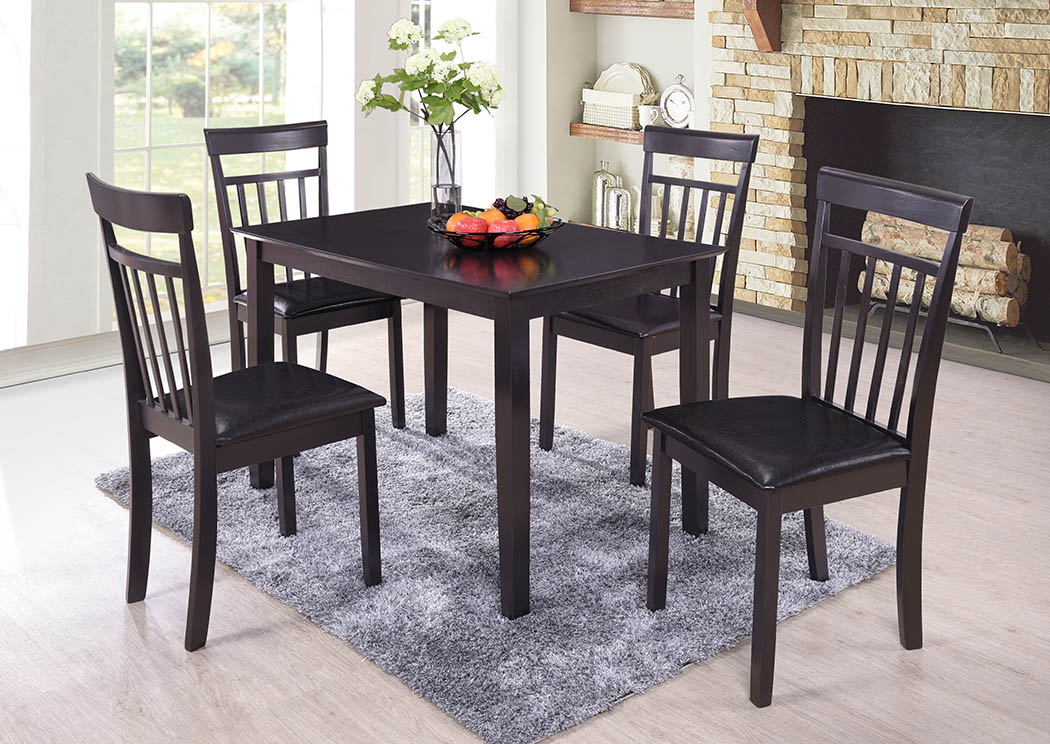 Market Furniture - Paterson, NJ Espresso Dinette Table