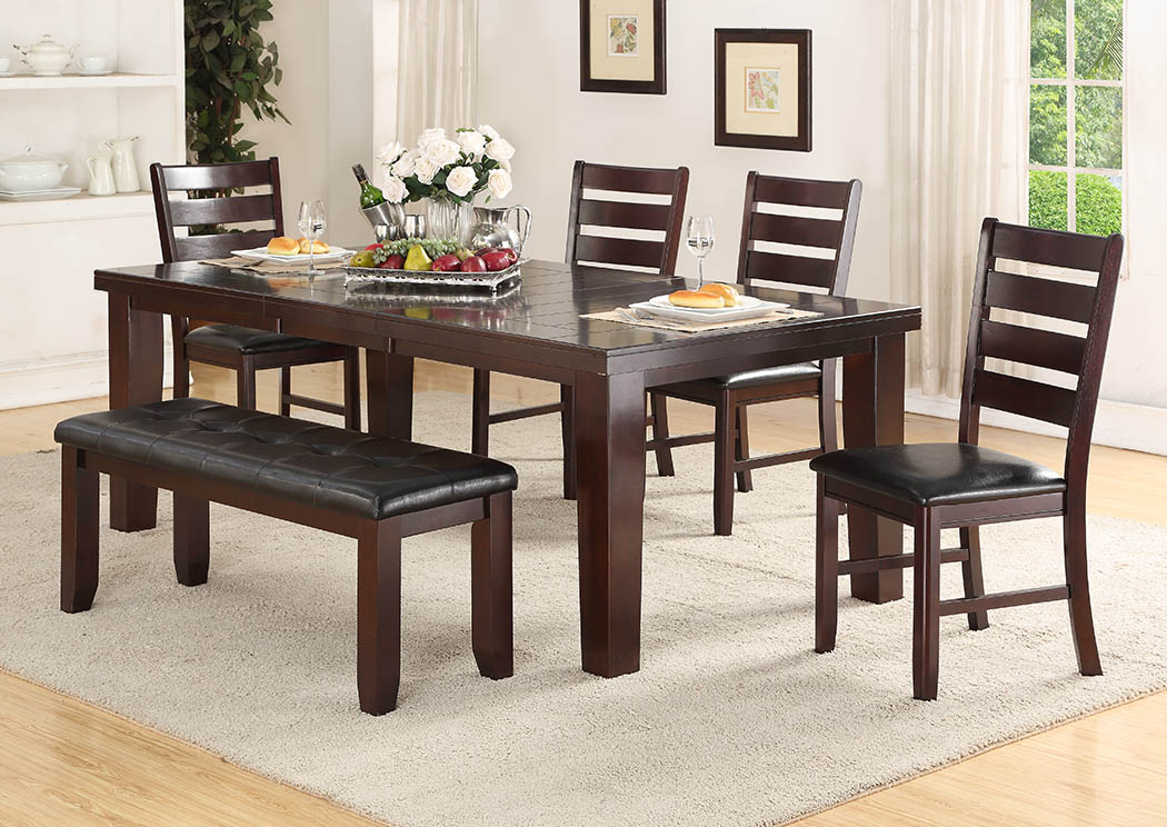 Cherry Dining Table W/Butterfly Leaf,Furniture World Distributors