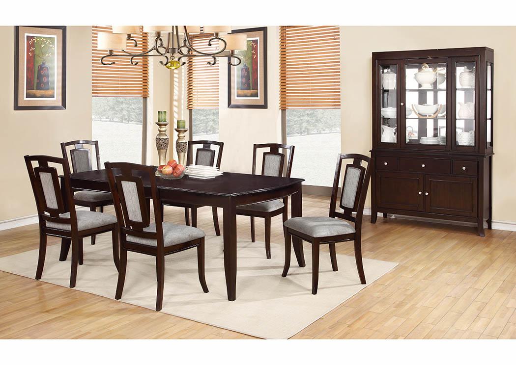 Bon Cherry China Cabinet (2 PC),Furniture World Distributors