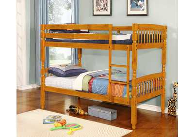 Honey Pine Twin/Twin Bunk Bed