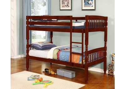 Cherry Twin/Twin Bunk Bed