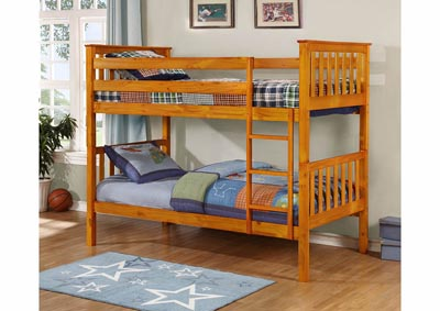 Honey Twin/Twin Bunk Bed