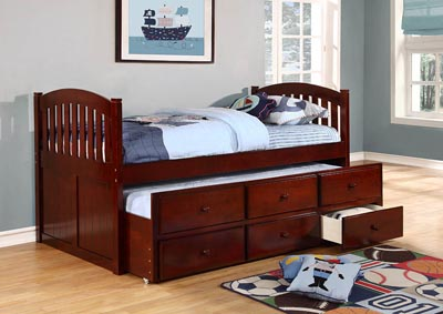 Cherry Twin Captain's Bed