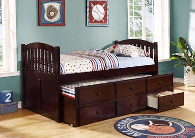Java Twin Captain's Bed