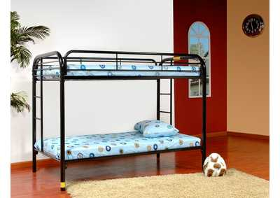 Black Twin/Twin Metal Bunk Bed