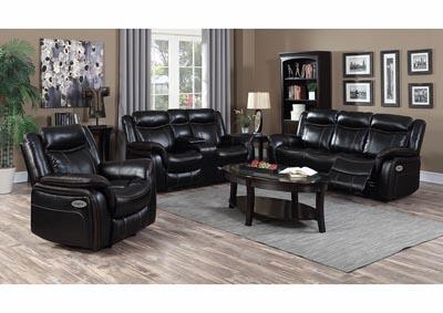 Swell Just Furniture Black Leather Power Reclining Sofa Loveseat Creativecarmelina Interior Chair Design Creativecarmelinacom
