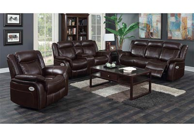 Just Furniture Burgundy Leather Power Reclining Sofa Loveseat