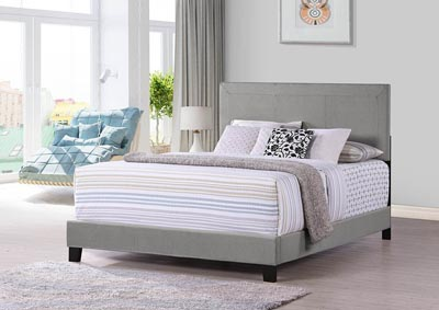 Gray Upholstered Twin Headboard