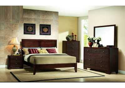 Brown Cherry Dresser w/Mirror