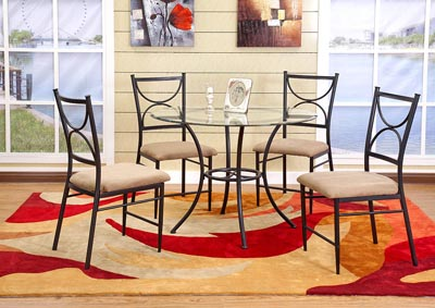 Image for Black Metal Dinette Chair (Set of 4)