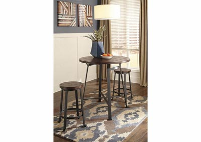 Image for Cherry Round Pub Table w/2 Stools