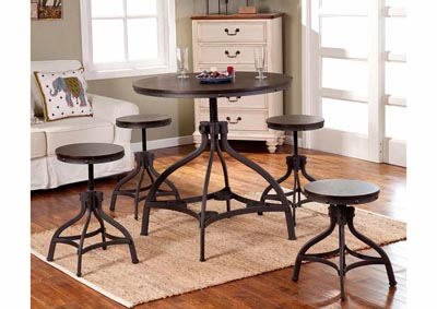 Image for Cherry Round Table w/4 Stools