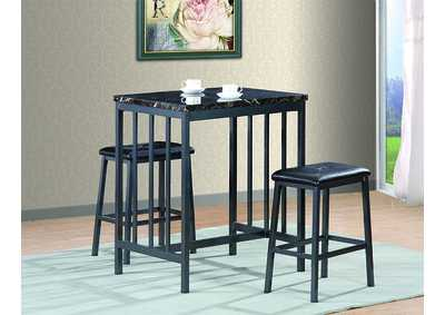 Image for Black Counter Height Table w/2 Stools