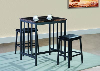Image for Brown Counter Height Table w/2 Stools