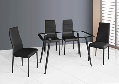 Black Upholstered Dining Chair (Set of 2)