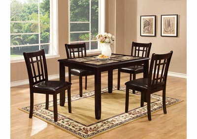 Image for Espresso Dinette Table w/4 Chairs (5 PC)