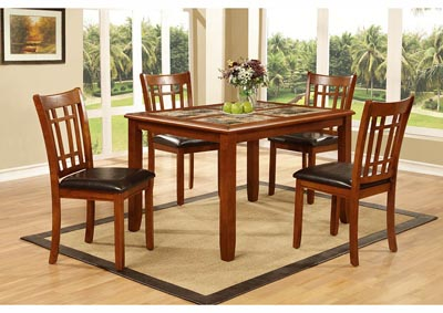 Image for Oak Dinette Table w/4 Chairs (5 PC)