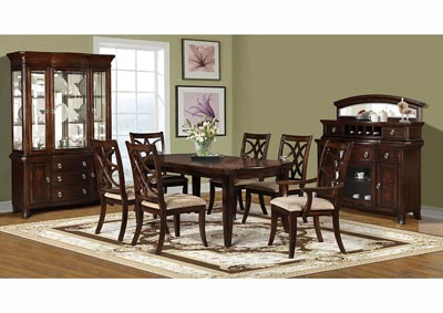 Dark Pecan China Cabinet (2 PC)