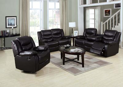Image for Paco Espresso Recliner Sofa