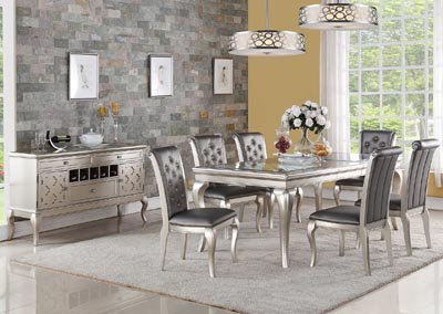 Image for Pewter Barcelona 5 Piece Set (Table + 4 Chairs)