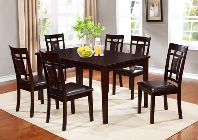 Image for Espresso Andrea Table + 6 Chairs