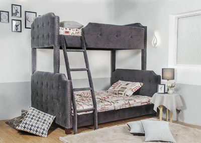 Image for Upholstered Coby- Bunkbed Twin/Full