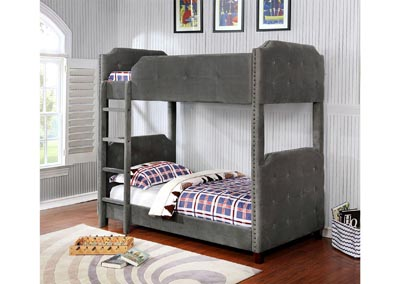 Image for Upholstered Coby- Bunkbed Twin/Twin