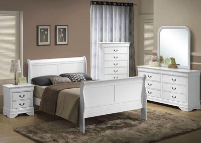 Image for LPWhite Queen bed