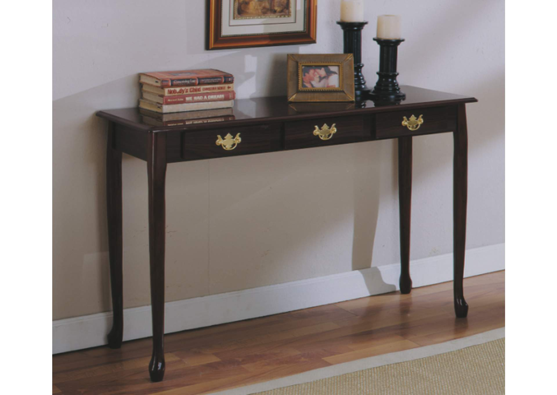 Cherry Queen Anne Sofa Table ,Global Trading