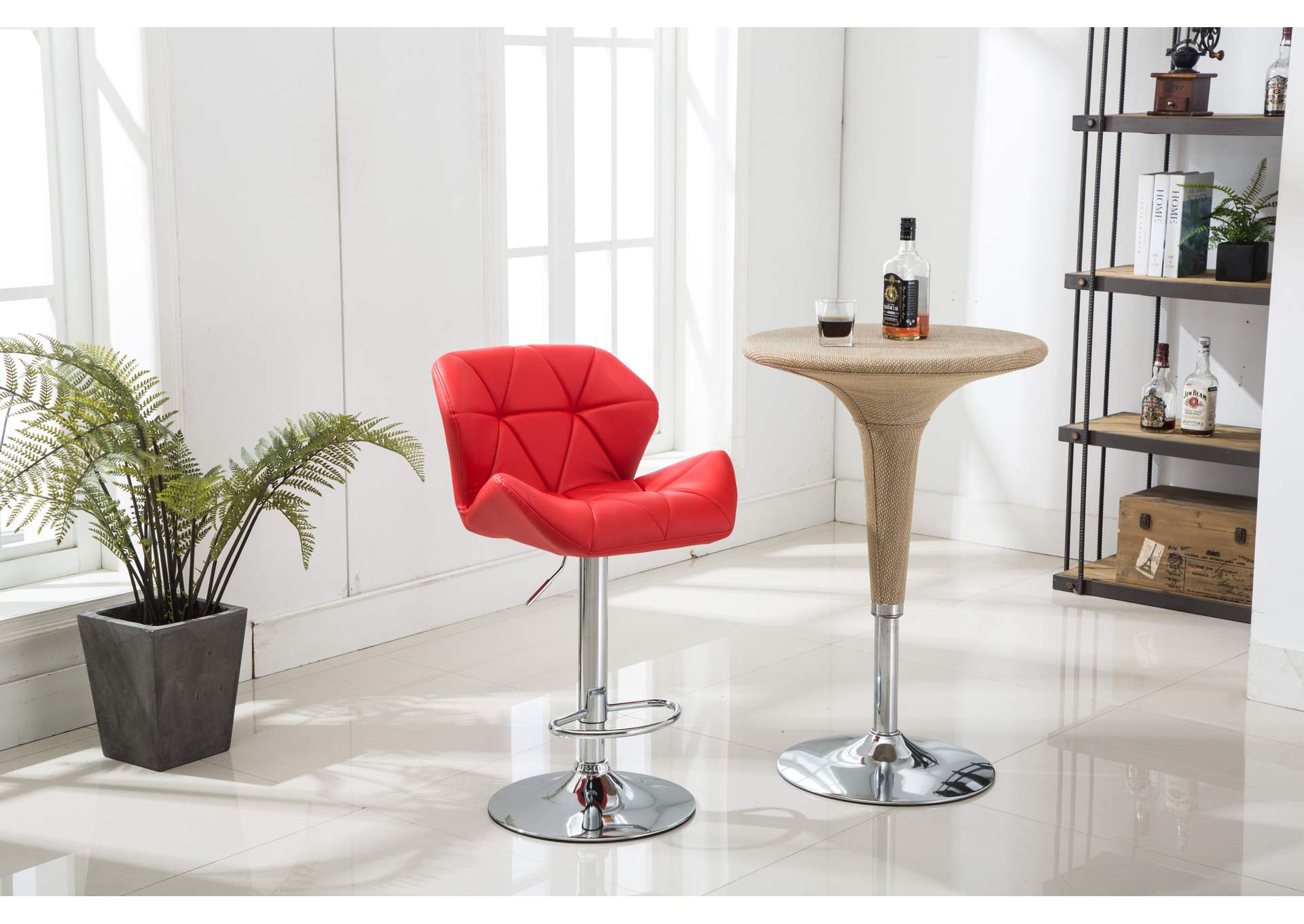 Roses Flooring And Furniture Red Bar Stool Set Of 2