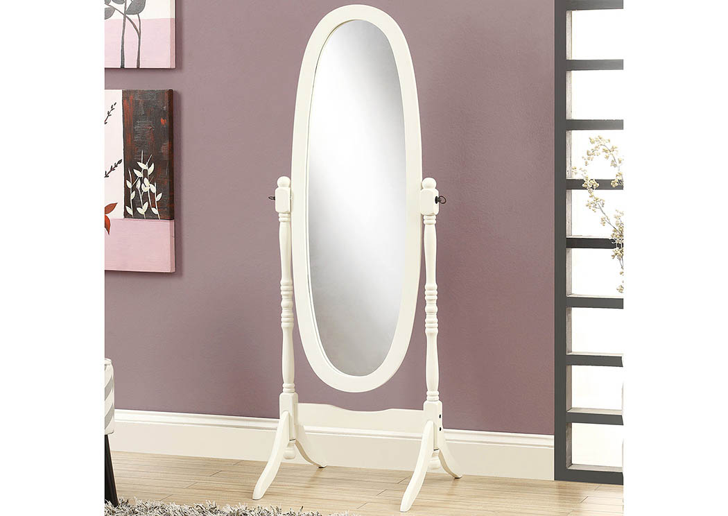 White Cheval Mirror,Global Trading