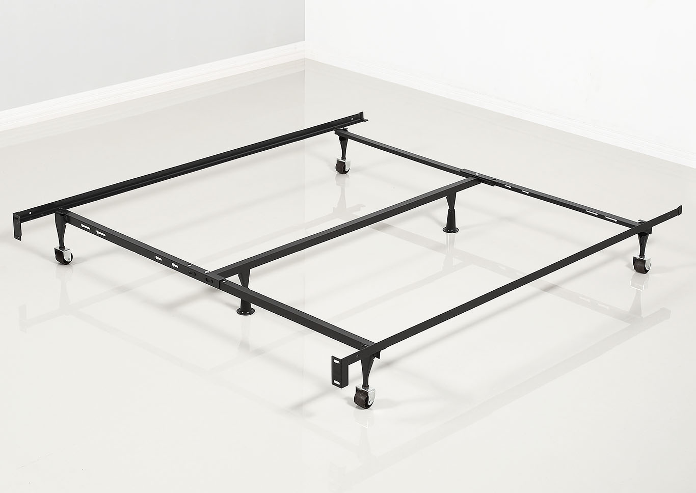 Twin Full Queen Bed Frame With Center SupportGlobal Trading