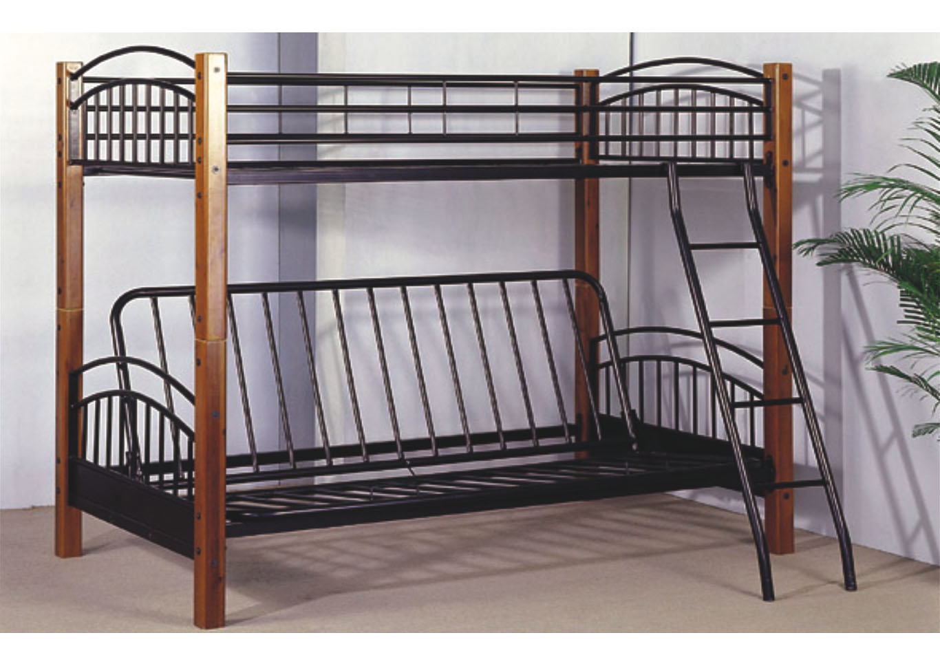 Shoppers World Flooring Furniture Wood Metal Twin Futon Bunk Bed