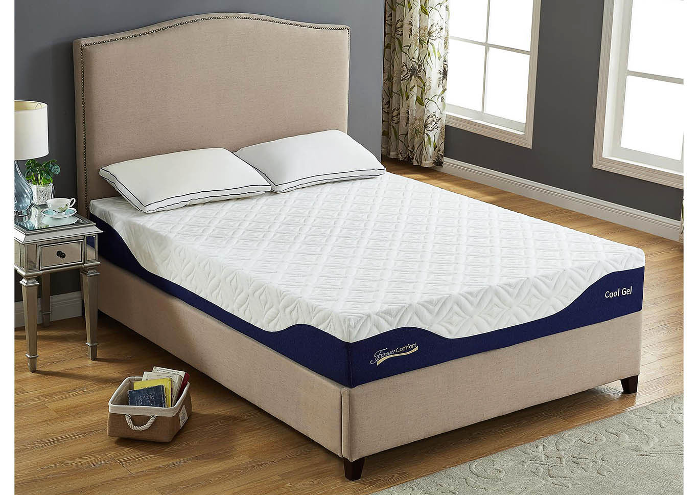 10 Gel Memory Foam King Size Mattress,Global Trading