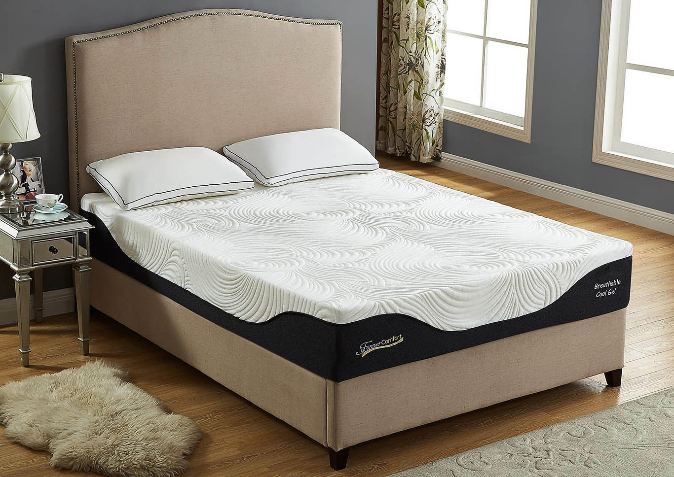 12 Gel Memory Foam Queen Size Mattress,Global Trading