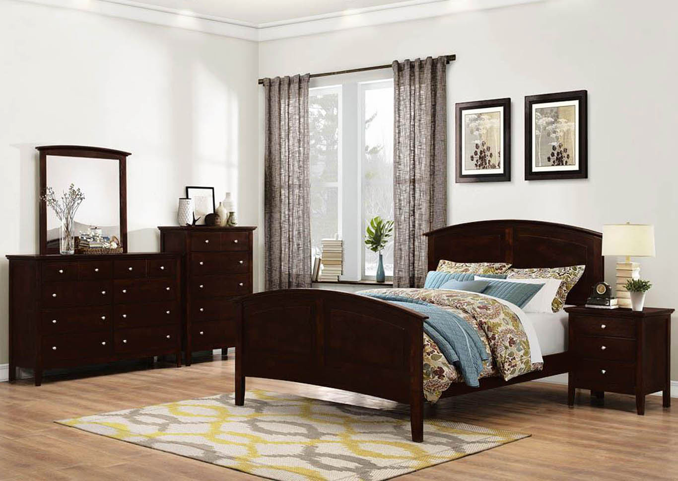 4 Piece Queen Bedroom Set,Global Trading